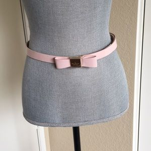Kate Spade Pink Bow Belt - Size Small